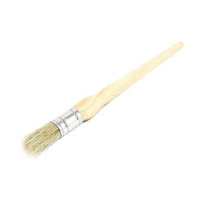 WOODEN HANDLE ROUND BRISTLE Chalk Oil Paint Wax Brush 20mm Dia FREE SHIPPING