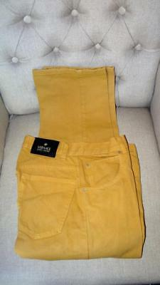 Vintage Versace Colored 5 Pocket Jeans Crop? 31 x 26 High Waisted Yellow Gold