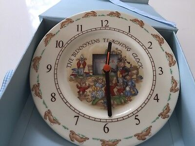Bunnykins Teaching Clock by Royal Doulton
