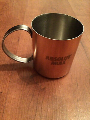 NEW Absolut Vodka Copper Mule Cup with Handle Absolut Mule FREE SHIPPING