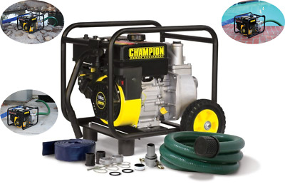 Champion Power Equipment 66520 2 Inch Semi-Trash Water Transfer Pump with Hose a