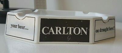 Carlton Drought Beer CUB Melamine ashtray for bar home collector Rare
