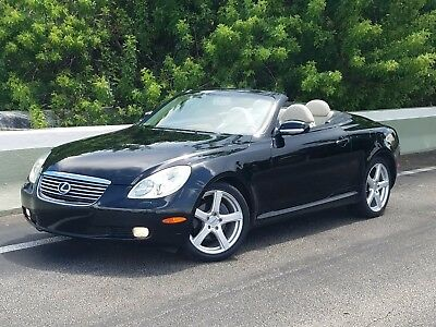 2004 Lexus SC BLACK AND TAN 2004 LEXUS SC430 CONVERTIBLE/HARDTOP FROM FL! BLACK WITH TAN ABSOLUTELY LIKE NEW