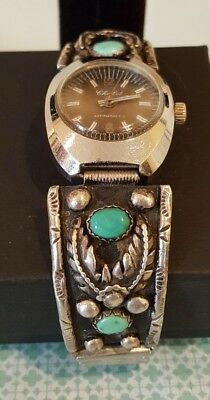 Native American Sterling Silver Watch Band - Automatic Working Watch