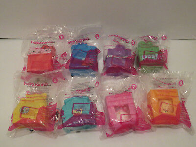 McDONALD'S 2016 HELLO KITTY SANRIO COMPLETE SET OF 8 HAPPY MEAL TOYS NEW!