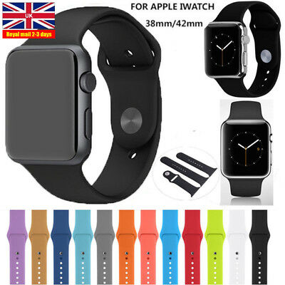 Replacement Silicone Sports Strap 38mm/42mm For Apple Watch Series 1/2  1pc