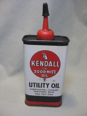 Vintage 4 oz. Kendall Oil Utility Oil Can - EMPTY