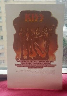 MINT ultra rare vintage 1980s KISS heat TRANSFER used as a Salesman's Sample