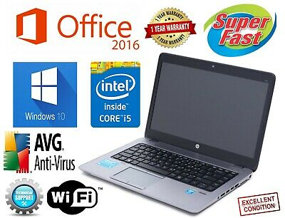 HP ELITEBOOK Laptop Computer PC CORE I5 Windows 8GB 500GB OFFICE WiFi NOTEBOOK!!