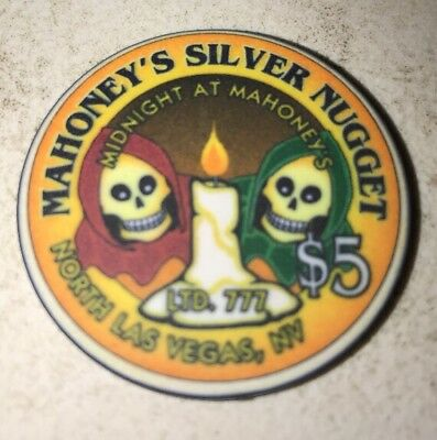 Mahoney's Silver Nugget $5 Casino Chip Las Vegas Nevada 2.99 Shipping