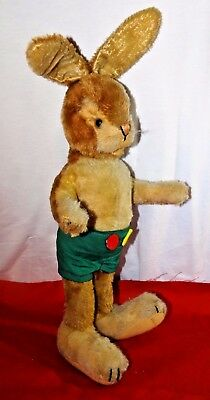 50's/60's Vintage SCHUCO RABBIT Easter Bunny Boy dressed in shorts - GREAT PRICE