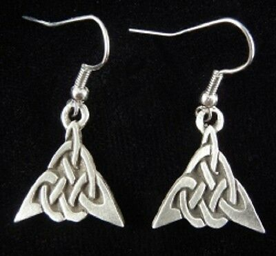 Pewter Triangle Celtic Knot Earrings