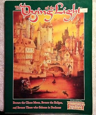 Warhammer Fantasy Roleplay (1st. Ed) - The Dying of the Light (Good Condition)
