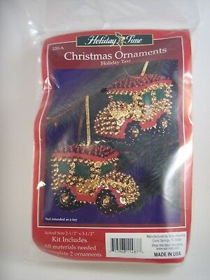 Sulyn Sequin Beaded Ornament Kit Christmas Holiday Taxi Never Opened 220-A