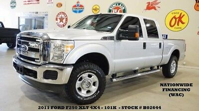 2011 Ford F-250  11 F250 CREW CAB XLT 4X4,6.2L,CLOTH,BED COVER,17IN WHEELS,101K,WE FINANCE!!