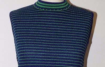 792  HOT TOPS of CALIFORNIA VINTAGE Nylon mock neck shell tops  TWO COLORS   M