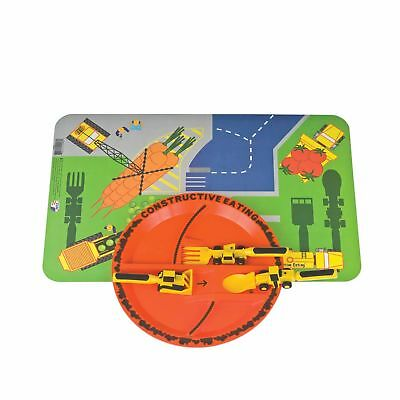 Constructive Eating - Construction Combo with Utensil Set, Plate, and Placemat