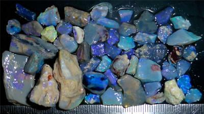 100 Cts #964 Opal Rough And Rough Rubs From Lightning Ridge Australia