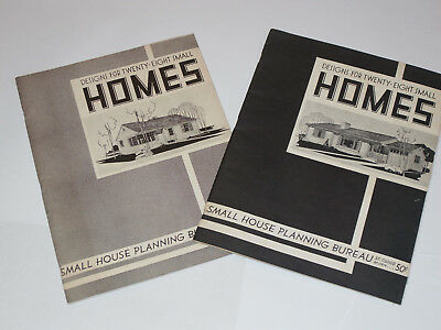 2 VINTAGE 1940s DESIGNS FOR SMALL HOMES BOOKS/CATALOGS! VOL 1&2! PLANS/LAYOUTS!