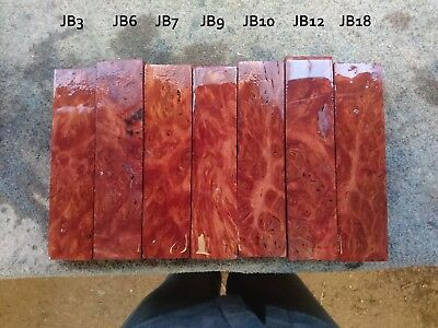 W.A. Jarrah Burl Knife handle wood Blocks