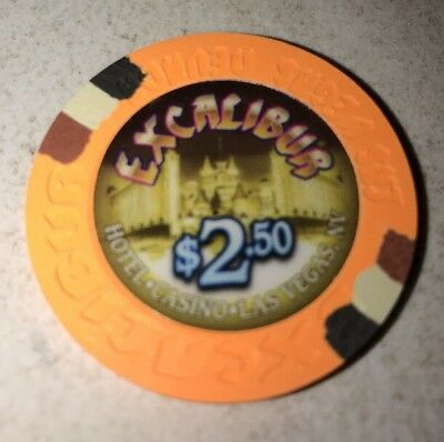 Excalibur $2.50 Casino Chip Las Vegas Nevada 2.99 Shipping