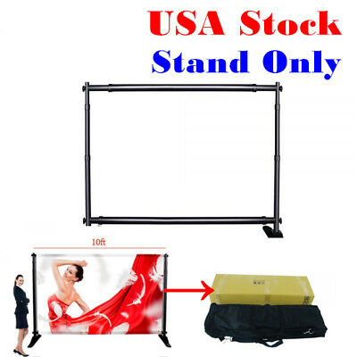 "10""W x8""H Large Tube Step and Repeat Adjustable Backdrop Telescopic Banner Stand"