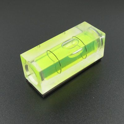 3Pcs Square PMMA Bubble Level Acrylic Shell Spirit Level Vial 10*10*29mm Hot