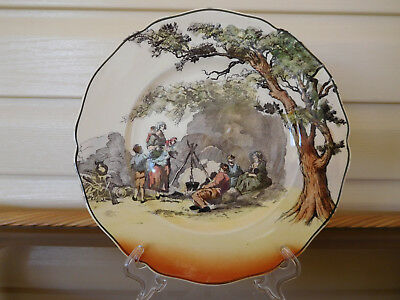 "Royal Doulton Series Ware Cabinet Plate ""The Gleaners"" D6123 England 1920 -1930s"