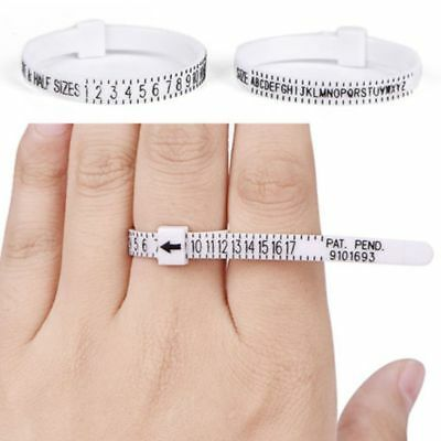 UK US Ring Sizer Measure Finger Helpful Tool Gauge For Wedding Ring Band Genuine