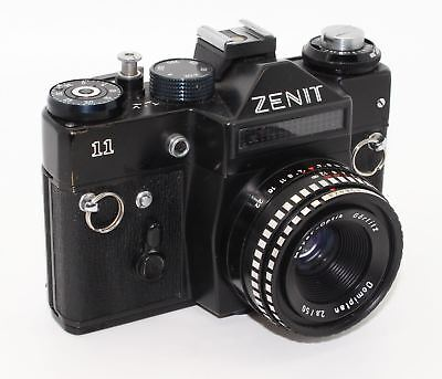 Zenit 11 35mm SLR Russian Zenith Camera with 50mm lens and case – VGC c.1983