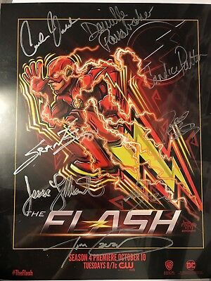 The Flash SDCC 2017 Signed Poster