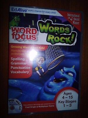 EdAlive WORD focus WORDS ROCK! Game(Free P&P).Ideal Xmas Gift or Stocking Filler