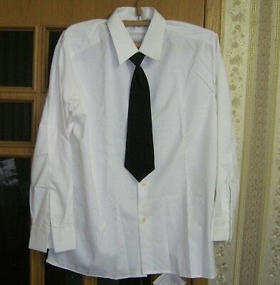New Russian Soviet Army Officer Parade Uniform White Shirt + Tie Size 60-4 XXL