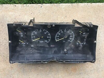 Ford Falcon XD XE S Pack dash clusters.