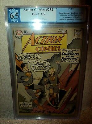 DC Action Comics PGX Superman Golden #252 1ST SUPERGIRL APPEARANCE 6.5 cgc
