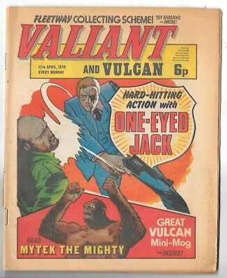 Valiant & Vulcan 17th Apr 1976 (very high grade) with Vulcan mini comic inside