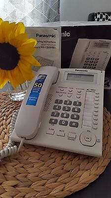 Panasonic KX-TS880B Corded Integrated Phone Sys/10 One-Touch Dialer Black White*