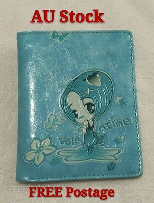 NEW Girl women kid Purse Wallet, Blue PU leather, thin small, Free shipping AU