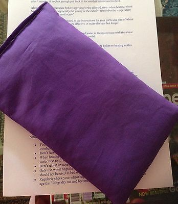 purple Microwave WHEAT HEAT BAG HOT & Or COLD Wheat Heat Packs 100% Cotton