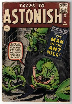 Marvel Comics TALES TO ASTONISH 27 4.0 VG 1st App ANT-MAN Pym GIANT MAN AVENGERS