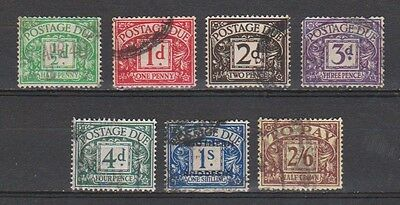 Great Britain Out of postage due SG D 27-34 used 1937-1938 Michel 26-33 minus 31