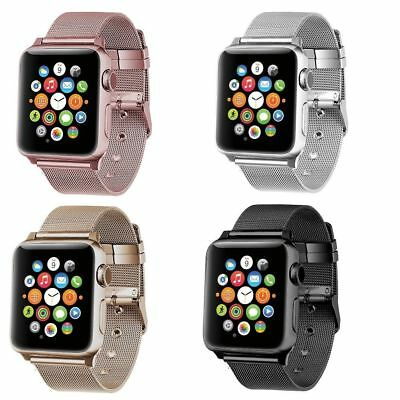 Milanese Stainless Steel Buckle Bracelet Strap For Apple Watch Band series 2/1
