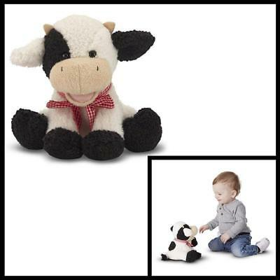 Meadow Medley Calf Stuffed Animal Baby Cow With Moo Sound Effect Figure Toys new