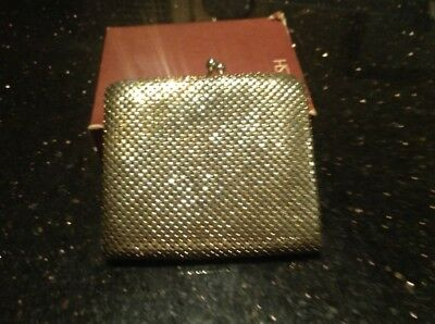 Glomesh Purse Silvery Gold. Box And Card