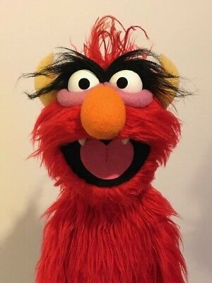 Red Monster Professional Muppet Puppet
