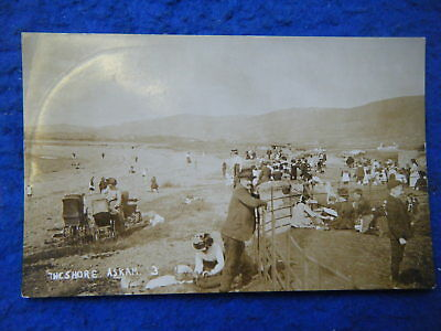 Askam-In-Furness: The Shore - Scarce Early Real Photo Card!