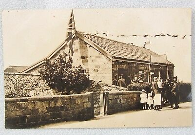 Real Photo Postcard DARLINGTON DURHAM House Hall Welcome Home Soldier