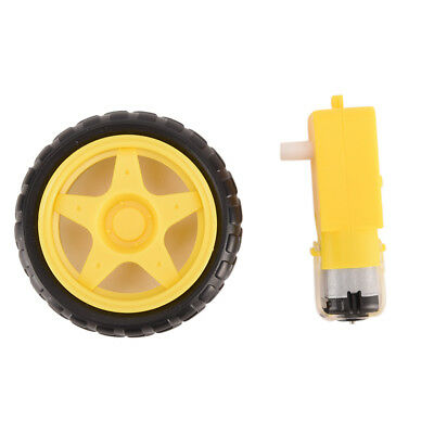 Arduino Smart Car Robot Plastic Tire Wheel with DC 3-6v Gear Motor for Robot A
