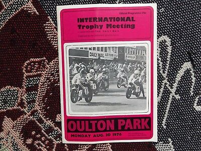 1976 Oulton Park Programme 30/8/76 - International Trophy Meeting