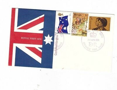 Australia 1970 CAPTAIN COOK set on OFFICIAL FDC + 5c Cook Added, cds ORANGE NSW
